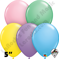 Qualatex 5 Inch Round Assortment Pastel Balloons 100ct