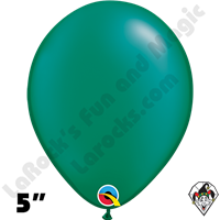Qualatex 5 Inch Round Pearl Emerald Green Balloons 100ct