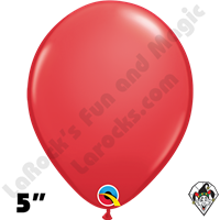 Qualatex 5 Inch Round Standard Red Balloons 100ct