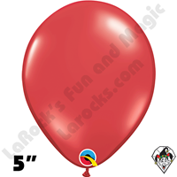 5 Inch Round Jewel Ruby Red Balloons Qualatex 100ct