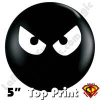 Qualatex 5 Inch Round Evil Eyes Balloons by Juan Gonzales 100ct
