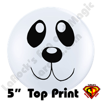 Qualatex 5 Inch Round Panda Face Top Print Balloons by Juan Gonzales 100ct