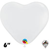 Qualatex 6 Inch Heart Jewel Diamond Clear Balloons 100ct