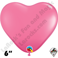 Qualatex 6 Inch Heart Fashion Rose Balloons 100ct