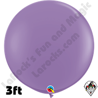 Qualatex 3 Foot Round Fashion Spring Lilac Balloons 2ct