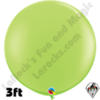 Qualatex 3 Foot Round Fashion Lime Green Balloons 2ct
