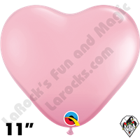 Qualatex 11 Inch Heart Standard Pink Balloons 100ct