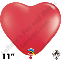 Qualatex 11 Inch Heart Standard Red Balloons 100ct