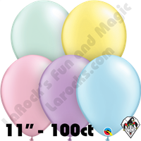 Qualatex 11 Inch Round Pastel Pearl Assortment Balloons