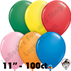 Qualatex  | Round Balloons | 11 inch Round Standard Assortment