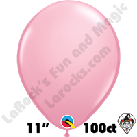 Qualatex 11 Inch Round Standard Pink Balloons 100ct
