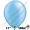 Qualatex 11 Inch Round Pearl Azure Balloons 100ct