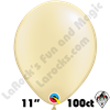 Qualatex 11 Inch Round Pearl Ivory Balloons 100ct
