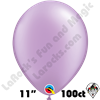 Qualatex 11 Inch Round Pearl Lavender Balloons 100ct