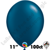Qualatex 11 Inch Round Pearl Midnight Blue Balloons 100ct