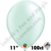 Qualatex 11 Inch Round Pearl Mint Green Balloons 100ct