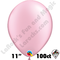 Qualatex 11 Inch Round Pearl Pink Balloons 100ct