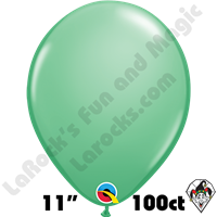 Qualatex 11 Inch Round Fashion Wintergreen Balloons 100ct