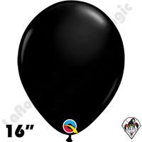 Qualatex 16 Inch Round Fashion Onyx Black Balloons 50ct