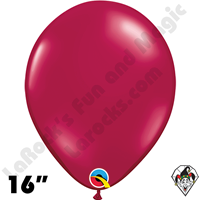 Qualatex 16 Inch Round Jewel Sparkling Burgundy Balloons 50ct
