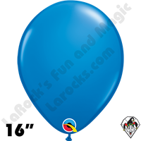 Qualatex 16 Inch Round Standard Dark Blue Balloons 50ct