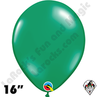 Qualatex 16 Inch Round Jewel Emerald Green Balloons 50ct