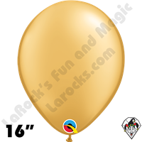 Qualatex 16 Inch Round Metallic Gold Balloons 50ct