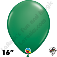 Qualatex 16 Inch Round Standard Green Balloons 50ct