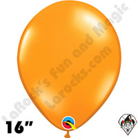 Qualatex 16 Inch Round Jewel Mandarin Orange Balloons 50ct