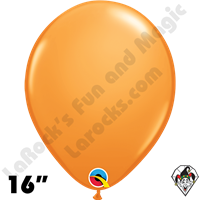Qualatex 16 Inch Round Standard Orange Balloons 50ct