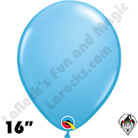 Qualatex 16 Inch Round Standard Pale Blue Balloons 50ct