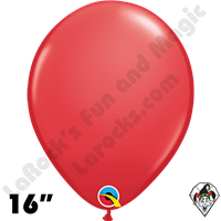 Qualatex 16 Inch Round Standard Red Balloons 50ct