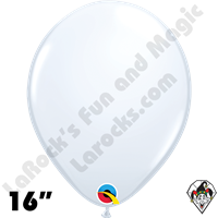 Qualatex 16 Inch Round Standard White Balloons 50ct