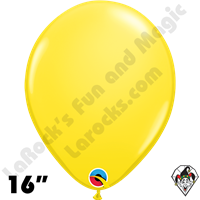 Qualatex 16 Inch Round Standard Yellow Balloons 50ct
