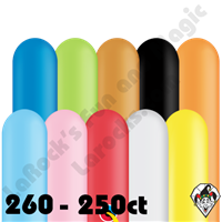 Qualatex 260Q Popular Assortment Balloons 250ct