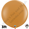 Qualatex 3 Foot Round Fashion Mocha Brown Balloons 2ct