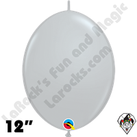 Qualatex 12 inch Quick Link Fashion Gray Balloons 50ct