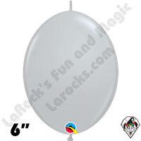Qualatex 6 inch Quick Link Fashion Gray Balloons 50ct