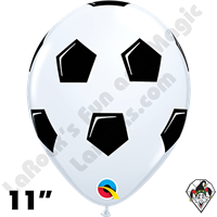 Qualatex 11 Inch Round Soccer Ball/Football Balloons 50ct