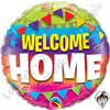 Qualatex 18 Inch Round Welcome Home Pennants Foil Balloon