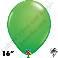 Qualatex 16 Inch Round Fashion Spring Green Balloons 50ct