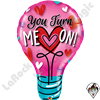 40 Inch Shape You Turn Me On! Foil Balloon Qualatex 1ct