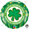 18 Inch Round Happy St Patrick's Day Foil Balloon Qualatex 1ct.