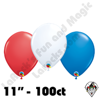 Qualatex  | Round Balloons | 11 inch Round Patriotic Assortment