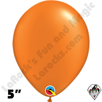 Qualatex 5 Inch Round Pearl Mandarin Orange Balloons 100ct