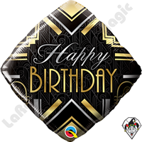 18 Inch Diamond Birthday Art Deco Foil Balloon 1ct.