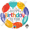 18 Inch Round Happy Birthday To You Balloons Foil Balloon Qualatex 1ct.