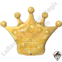 41 Inch Shape Golden Crown Foil Balloon Qualatex 1ct