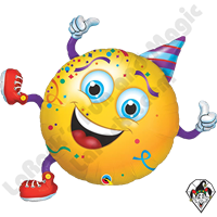 38 Inch Shape Smiley Party Guy Foil Balloon Qualatex 1ct