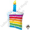 42 Inch Shape Rainbow Cake & Candle Foil Balloon Qualatex 1ct